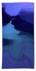 Midnight Blue Beach Towel