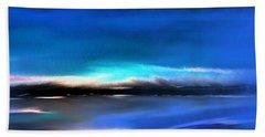 Midnight Blue Beach Towel by Yul Olaivar