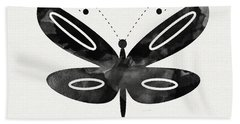Midnight Butterfly 1- Art By Linda Woods Beach Towel