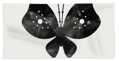 Midnight Butterfly 2- Art By Linda Woods Beach Towel