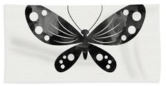 Midnight Butterfly 3- Art By Linda Woods Beach Towel by Linda Woods