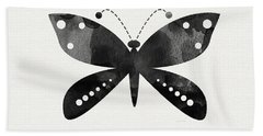 Midnight Butterfly 4- Art By Linda Woods Beach Towel by Linda Woods