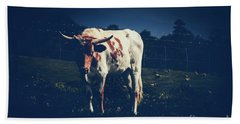 Beach Towel featuring the photograph Midnight Encounter by Sharon Mau