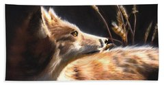 Midnight Fox Beach Towel