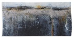 Beach Towel featuring the painting Midnight Glow by Nicole Nadeau