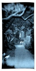 Midnight In The Garden O Beach Towel