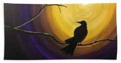 Midnight Raven Beach Towel