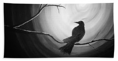 Midnight Raven Noir Beach Towel