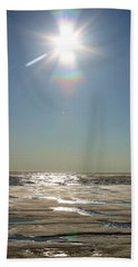 Midnight Sun Over The Arctic Beach Towel