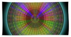 Beach Towel featuring the digital art Midnight Sunset by Visual Artist Frank Bonilla