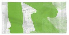 Midori- Abstract Art By Linda Woods Beach Towel