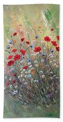 Midsummer Poppies Beach Sheet