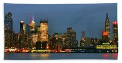 Beach Towel featuring the photograph Midtown Manhattan by Zawhaus Photography