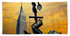 Beach Towel featuring the photograph Midtown Sunset by Chris Lord