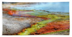 Midway Geyser Basin Hot Springs Beach Towel