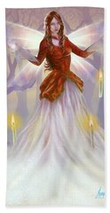 Midwinter Blessings Beach Sheet by Amyla Silverflame