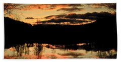Midwinter Sunrise Beach Towel