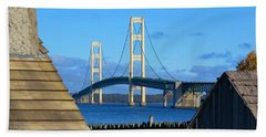 Mighty Mac From Michilimackinac Beach Sheet