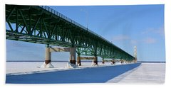 Mighty Mac On Ice Beach Sheet