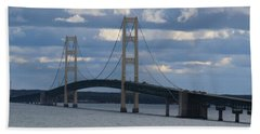 Mighty Mac The Mackinac Bridge Beach Towel