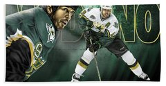 Mike Modano Beach Towel by Don Olea