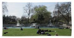 Mild Summer Afternoon At Hyde Park Corner - London 2016 Beach Sheet