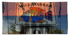 Beach Towel featuring the photograph Mile Marker 0 Sunset by David Lee Thompson