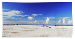 Beach Towel featuring the photograph Miles And Miles Of White Sand by Gary Wonning