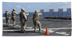 Military Policemen Train Beach Towel