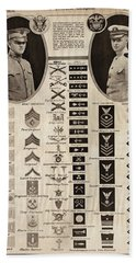 Beach Sheet featuring the photograph Military Rank Identification 1917 by Daniel Hagerman