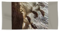 Milkweed Seed Burst Beach Towel