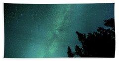 Milky Way Above The Trees Beach Sheet