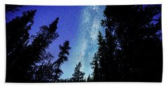 Milky Way Among The Trees Beach Sheet