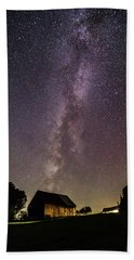 Milky Way And Barn Beach Towel