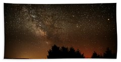 Milky Way And Falling Star Beach Towel