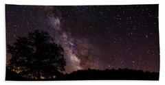 Milky Way And The Tree Beach Towel