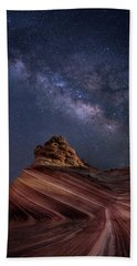 Milky Way And The Wave Beach Towel