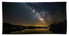 Milky Way At Hunter Cover Beach Towel