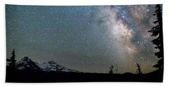 Beach Towel featuring the photograph Milky Way At Mckenzie Pass by Cat Connor