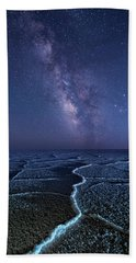 Milky Way At The Salt Flats Beach Sheet