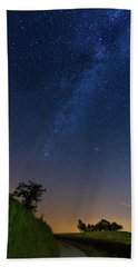 Beach Towel featuring the photograph Milky Way by Davor Zerjav