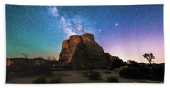 Milky Way Eruption Beach Towel