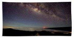 Milky Way From Mauna Kea Beach Towel