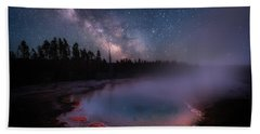 Milky Way In Yellowstone Beach Sheet