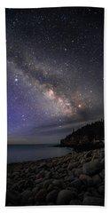 Milky Way Over Boulder Beach Beach Sheet