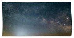 Milky Way Over Christ Pilot Me Hill Beach Towel