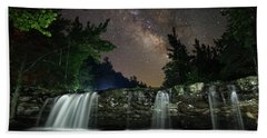 Milky Way Over Falling Waters Beach Sheet