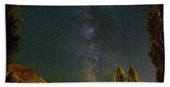Milky Way Over Farmland In Central Oregon Beach Towel