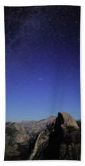 Milky Way Over Half Dome Beach Towel