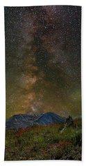 Milky Way Over Mount St Helens Beach Towel